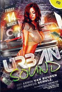Urban Sound – Free PSD flyer