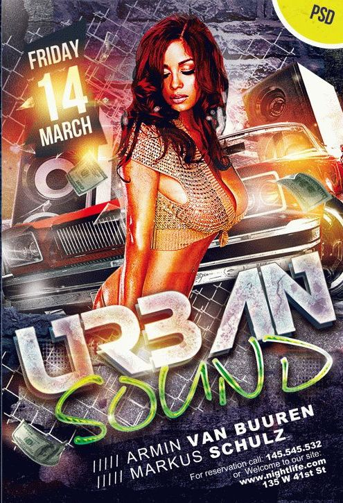 Urban Sound – Free PSD flyer
