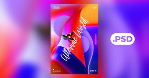 Abstract Vibe Free PSD Flyer Template