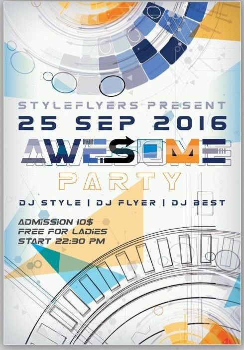 Awesome Party Flyer Template