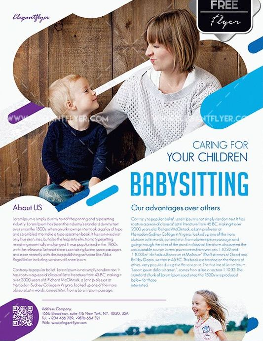 Babysitting Flyer Template Free