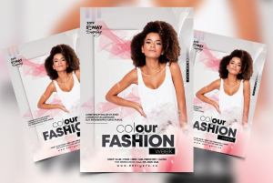 Colour Fashion Week Free PSD Flyer Template