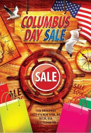 Columbus Day Sale Flyer