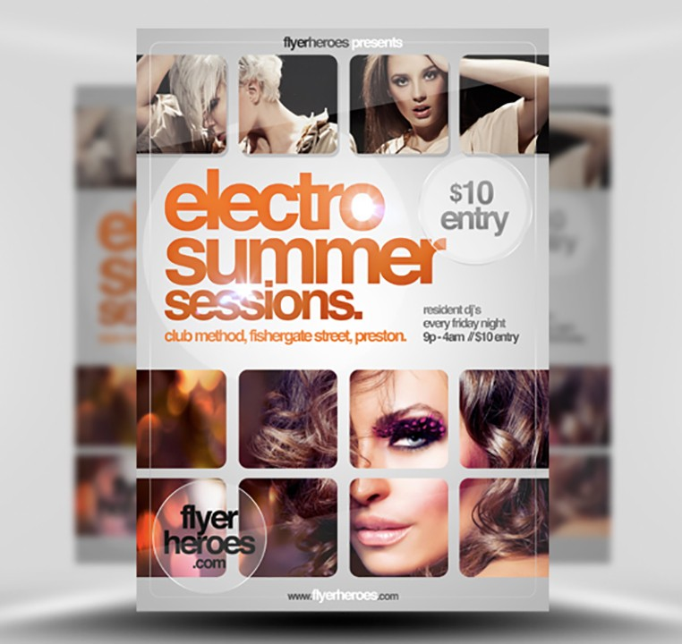 Electro Summer Sessions Free Flyer Template