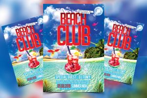 Exotic Beach Free PSD Flyer Template