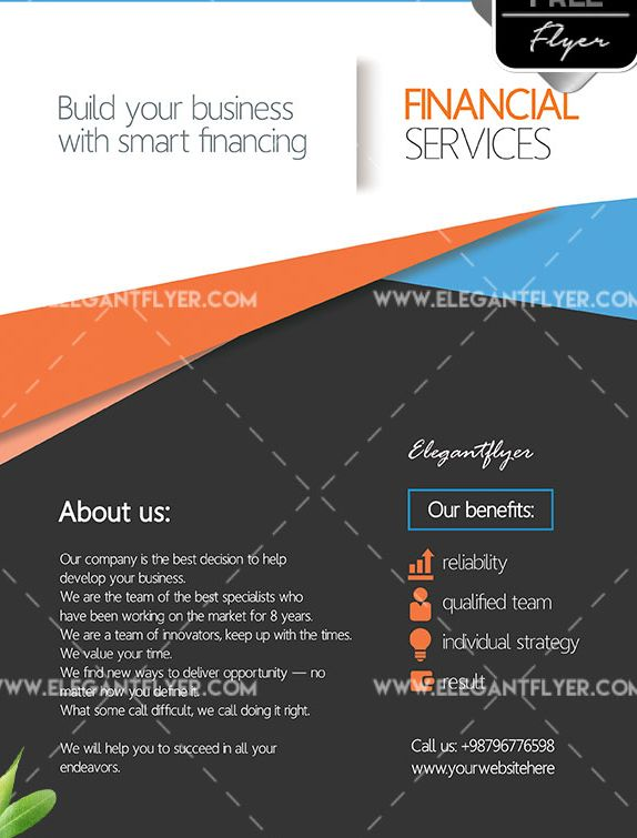 Financial Services Free PSD Flyer Template