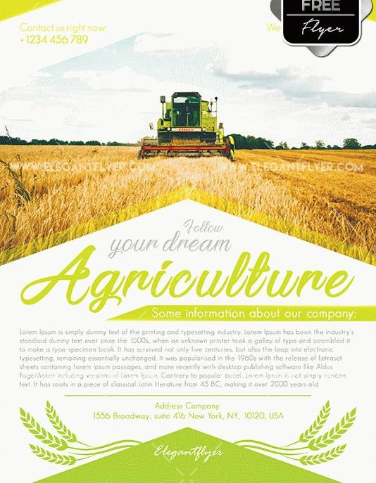 Free Agriculture Flyer Templates