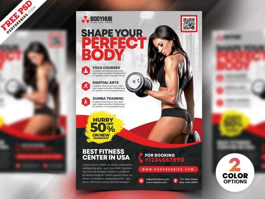 Free Body Fitness PSD Flyer Template