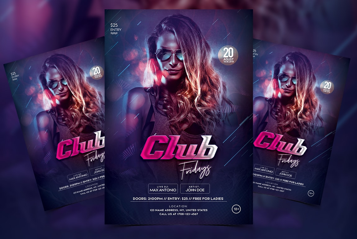 Friday Party Free PSD Flyer Template