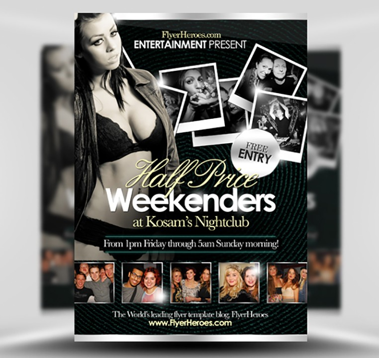 Half Price Weekenders Free Flyer Template