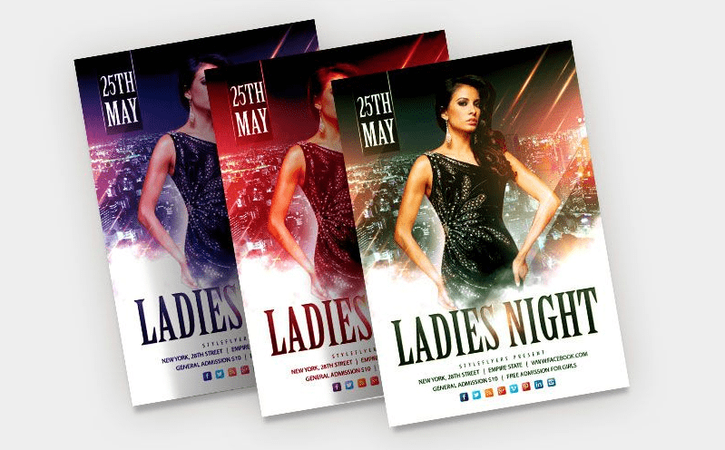 Ladies Night FREE PSD Flyer Template