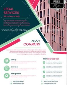 Legal Services Corp PSD Flyer Template