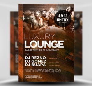 Luxury Lounge Free Flyer Template