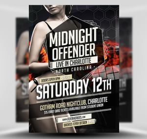 Midnight Offender Free Flyer Template