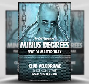 Minus Degrees Free Flyer Template