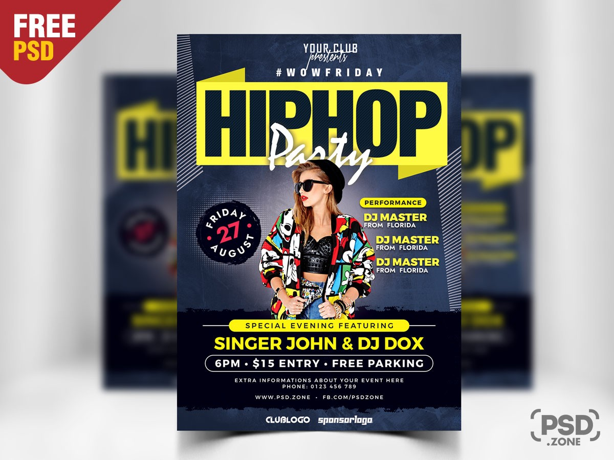 Party Event PSD Free Flyer Template