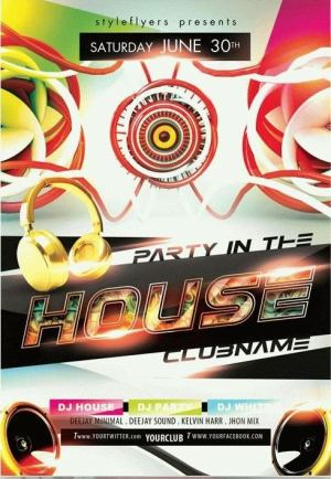 Party in the House PSD Flyer Template