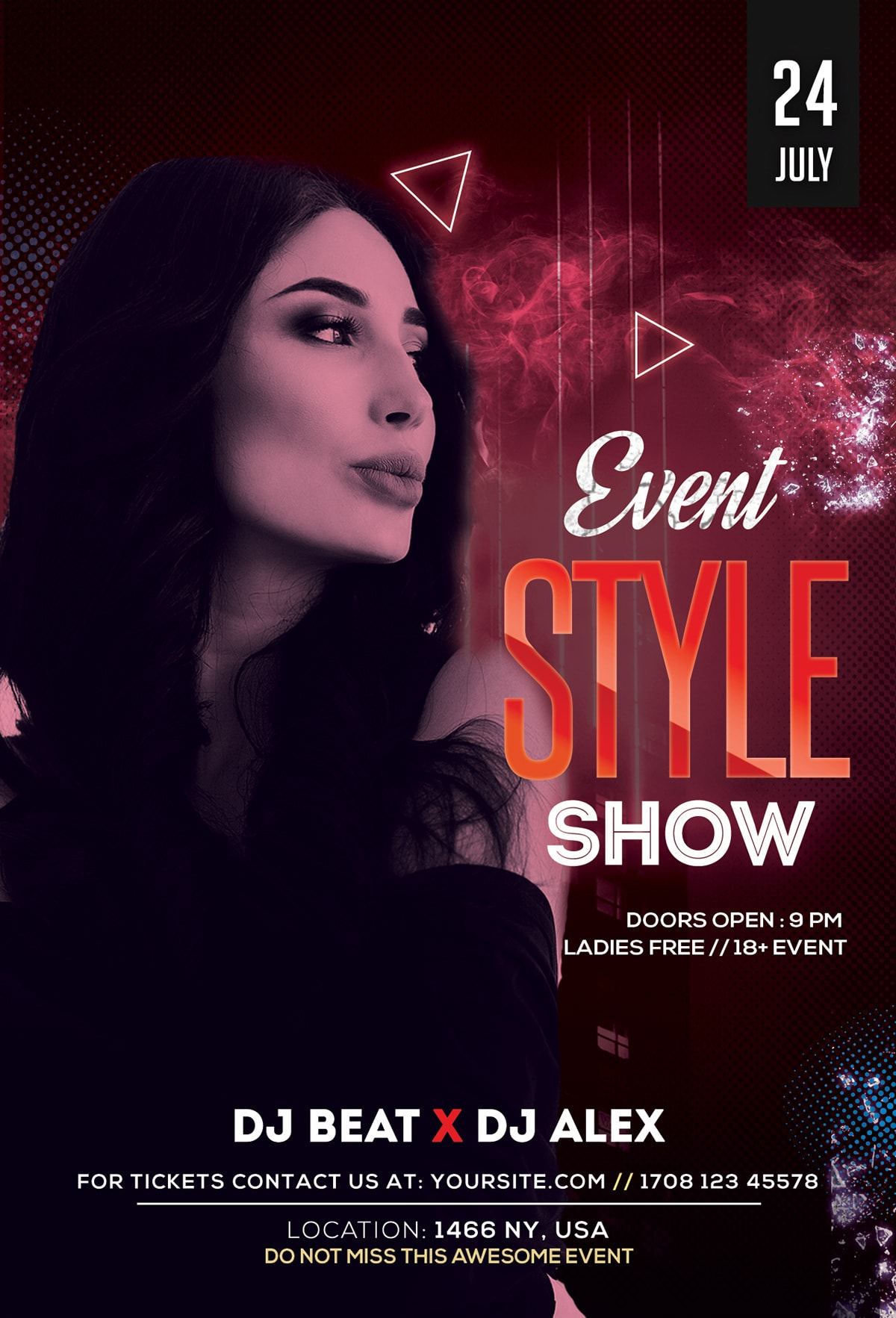 Style Show PSD FREE Flyer Template