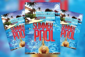 Summer Pool Party Free PSD Flyer Template