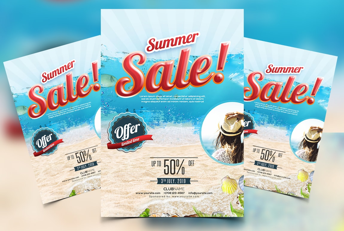 Summer Sale Free PSD Flyer Template