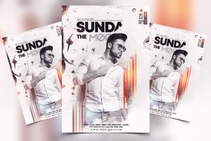 Sundays Vibe Free PSD Flyer Template