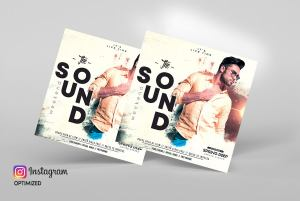 The Sound Weekend Free PSD Flyer Template