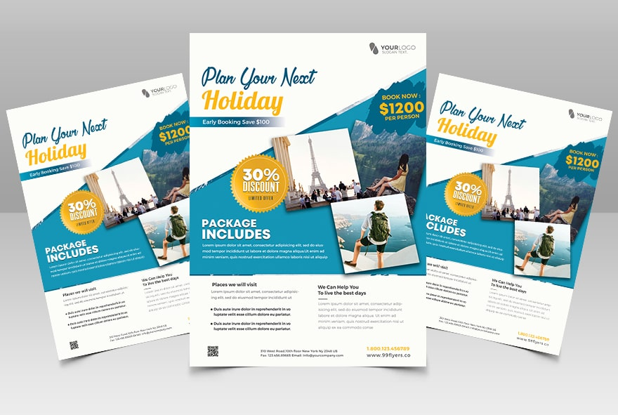 Travel Holiday Free PSD Flyer Template