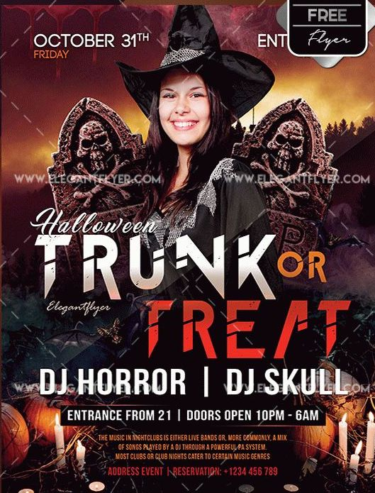 Trunk Or Treat Flyer Template Free