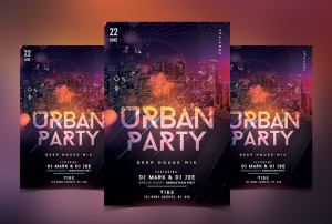 Urban Party PSD Free Flyer Template