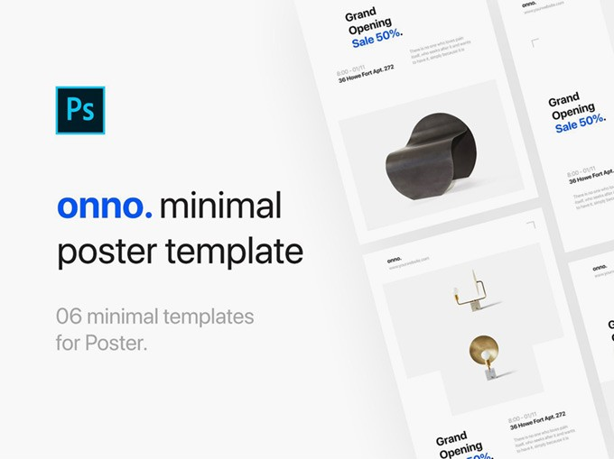 6 Free Minimal PSD Flyer Templates