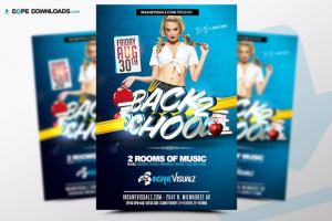 Back to School Free PSD Flyer Template