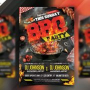 Backyard BBQ Party Free PSD Flyer