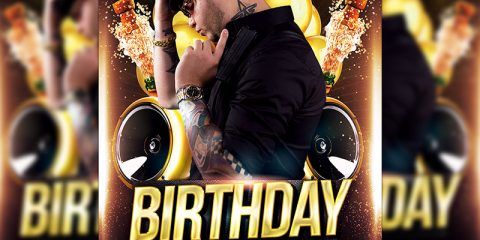 Birthday Bash Party Free PSD Flyer Template