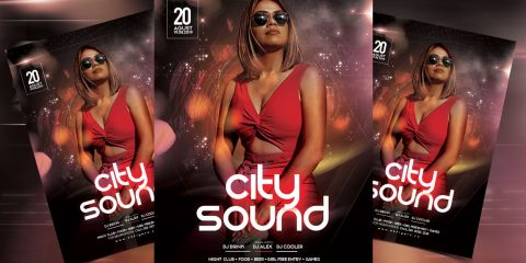 City Sound - Party Free PSD Flyer Template