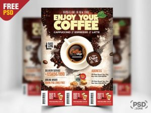Coffee Promotion PSD Free Flyer Template