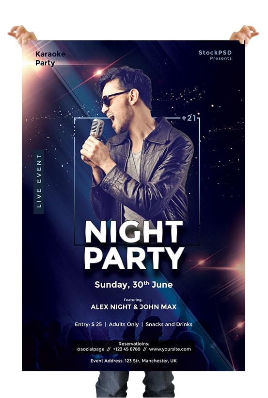 Concert Night PSD Free Flyer Template