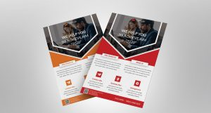 Corporate Business PSD Free Flyer Template