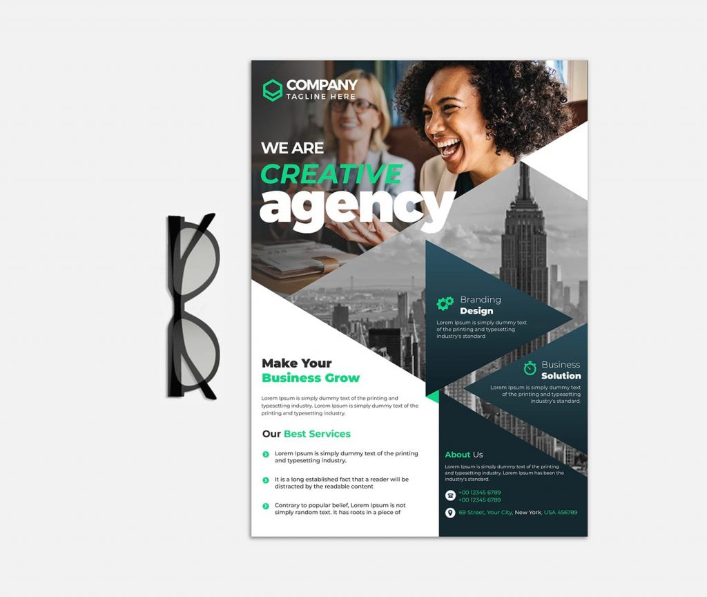 Creative Agency PSD Free Flyer Template