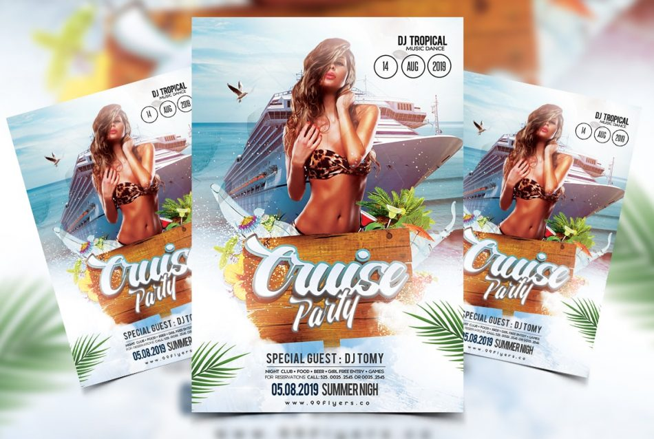 Cruise Summer Party Free PSD Flyer Template
