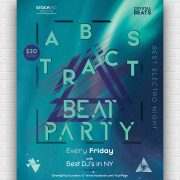 EDM DJ Party Free PSD Flyer Template
