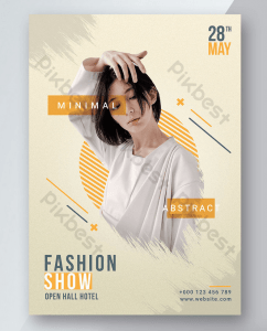 Fashion Show Free PSD Flyer Template