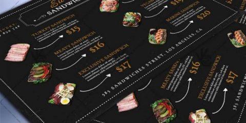 Free Food & Coffee Menu PSD Template