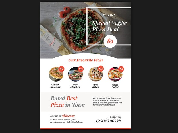 Free Pizza Promotion PSD Flyer Template