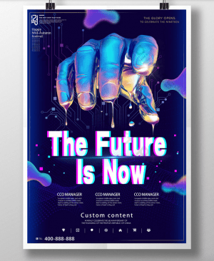 Future Party - Free PSD Flyer Template
