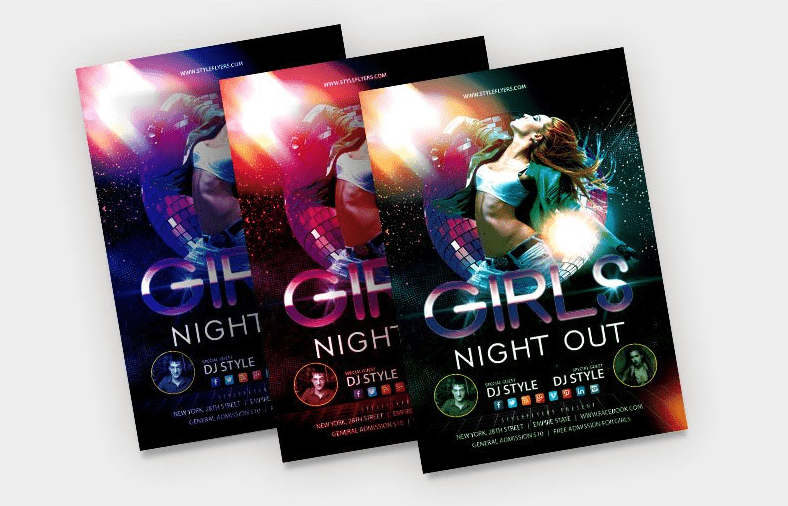 Girls Night Out PSD Free Flyer Template