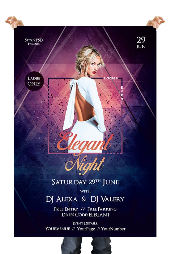 Ladies Night Free Event PSD Flyer Template