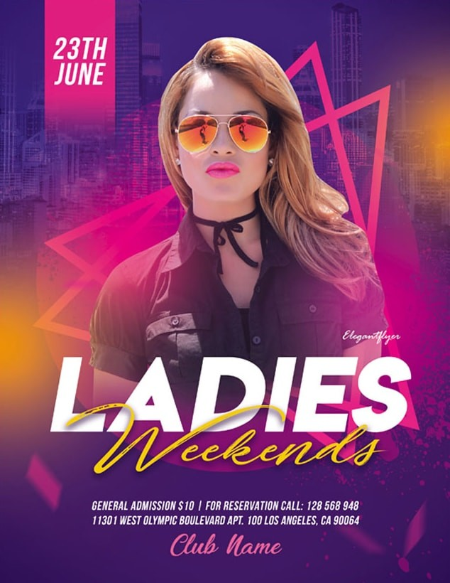 Ladies Party Freebie PSD Flyer Template