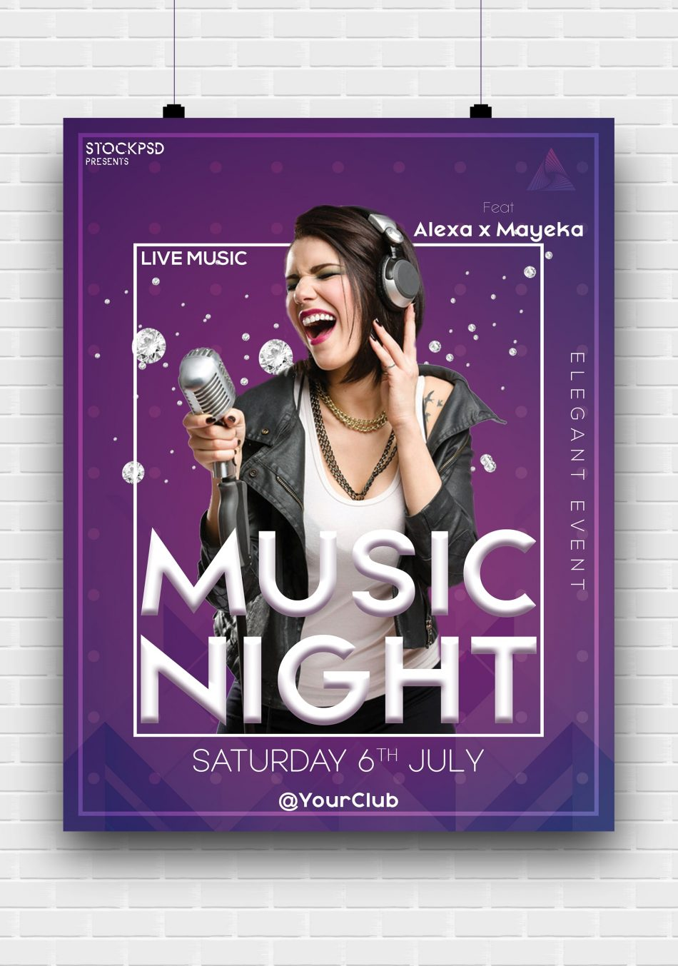 Music Concert Free PSD Poster Template