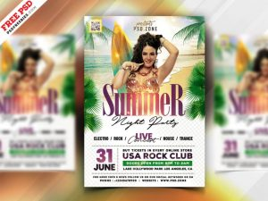 Party in Beach – Free Summer PSD Flyer Template