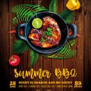Summer BBQ Free PSD Flyer Template
